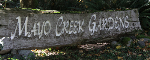 Mayo Creek Gardens sign